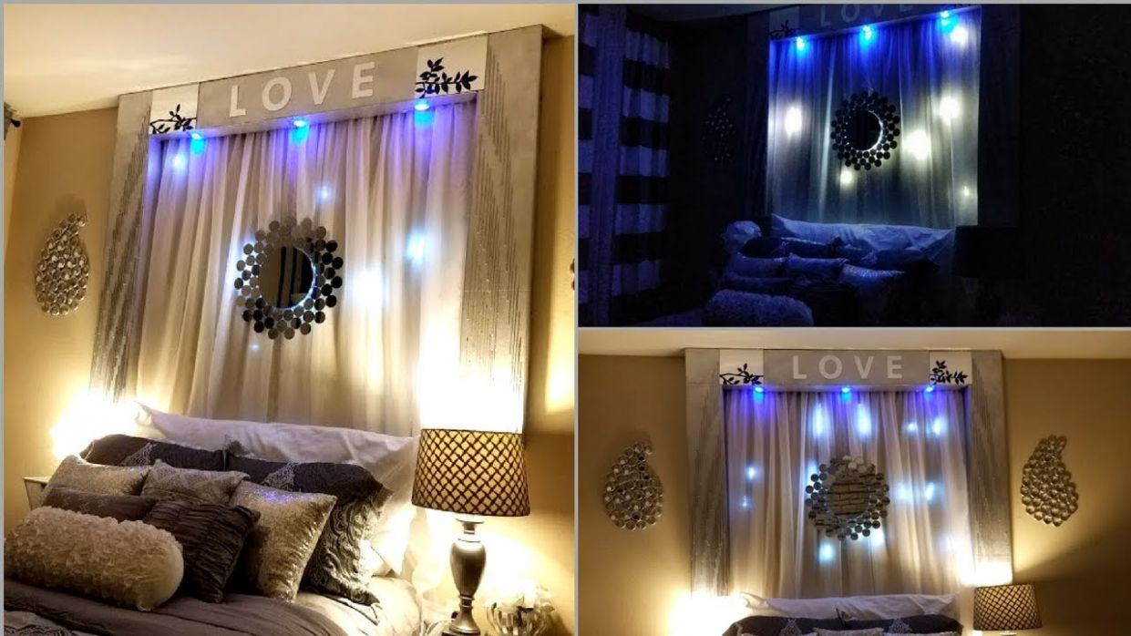 Diy Over the Bed Wall Decor With Lightings| Wall Decorating Ideas for  Bedrooms! - wall decor ideas behind bed