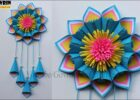 DIY Paper Craft Ideas - Wall Decoration Ideas - Simple Home Decor - Hanging  Flower