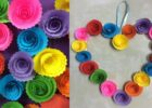 DIY Paper Rose Wall Hanging - Easy Wall Decoration Ideas - Simple Home Decor