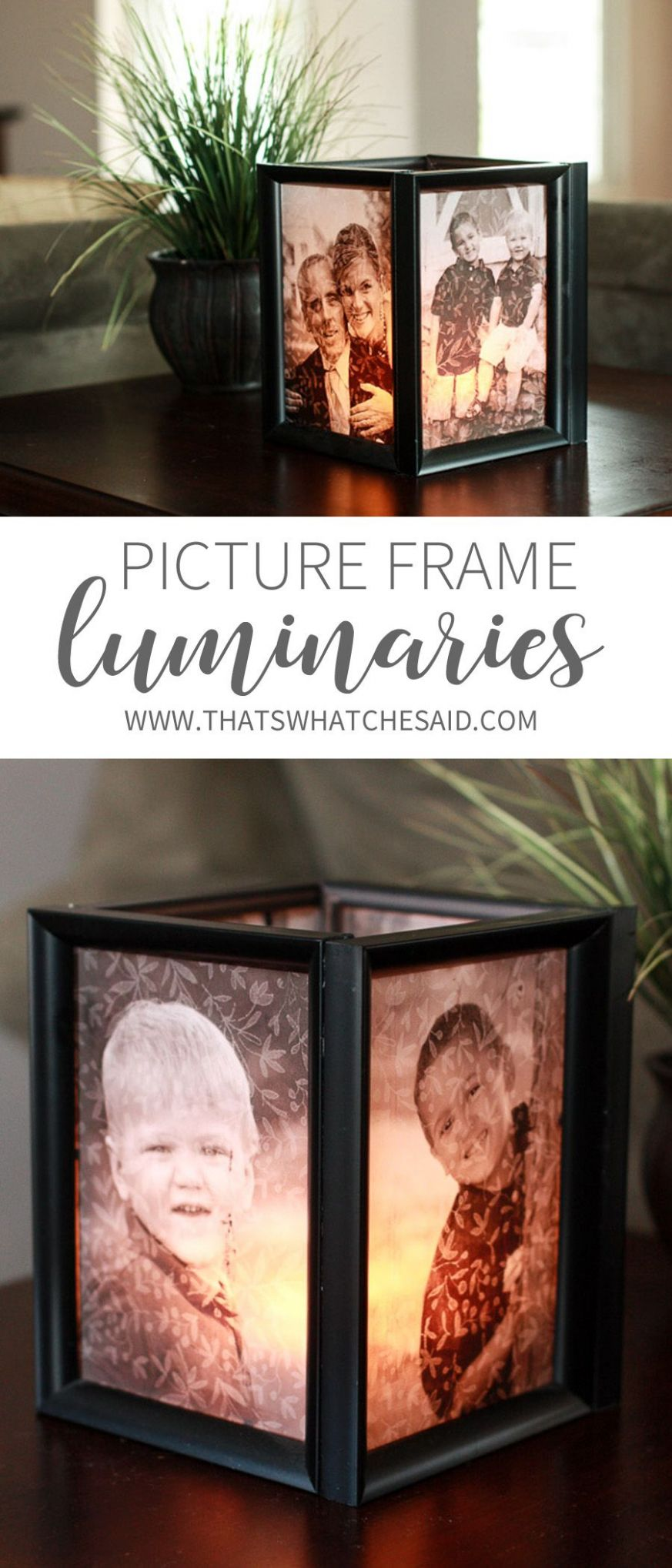 DIY Photo Luminaries | Handmade home decor, Cheap home decor, Diy ..