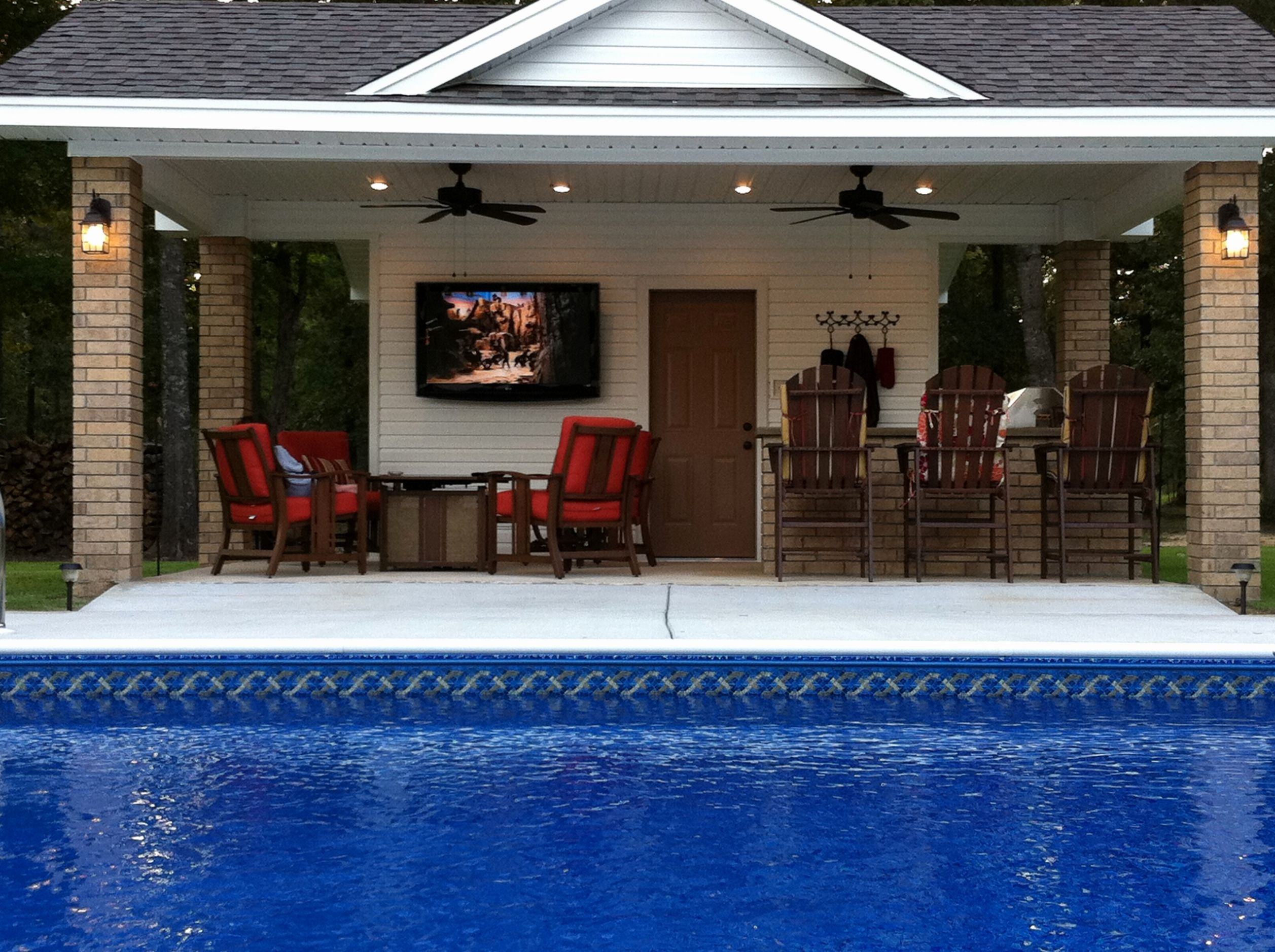 Diy Pool House Plans Lovely Plansth Outdoor Kitchen Small Shed ...