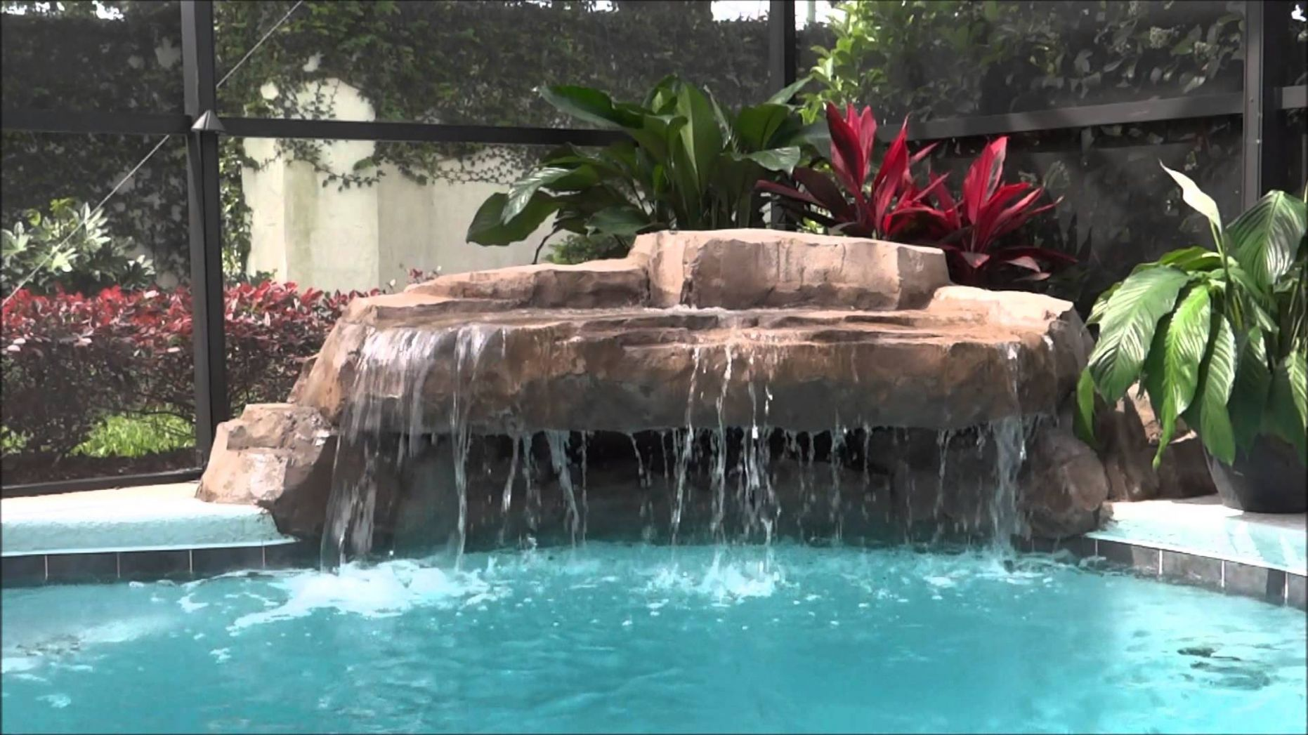 Diy Pool Waterfall Design Ideas Idea And Decorations Construction ..