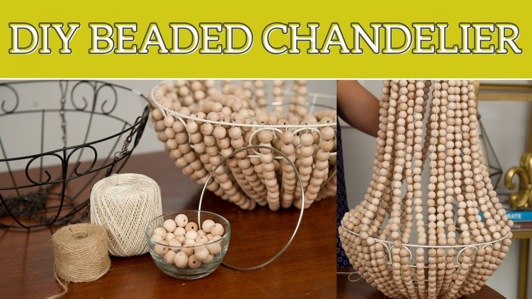DIY Projects Video: DIY Home Decor: Beaded Chandelier - DIYall.net ..
