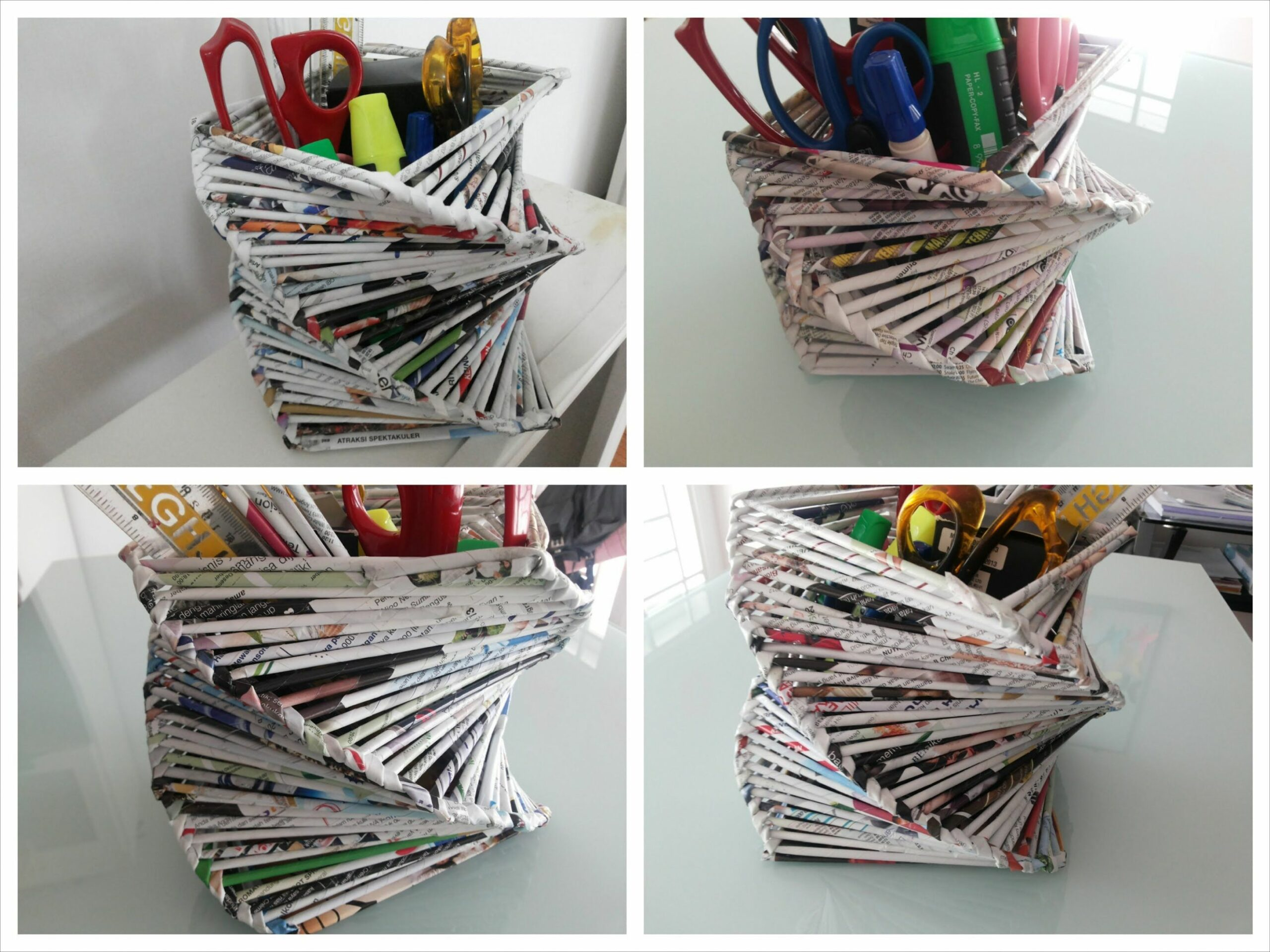 DIY Room or Home Decoration / Recycled Old Magazine | Diy crafts ...