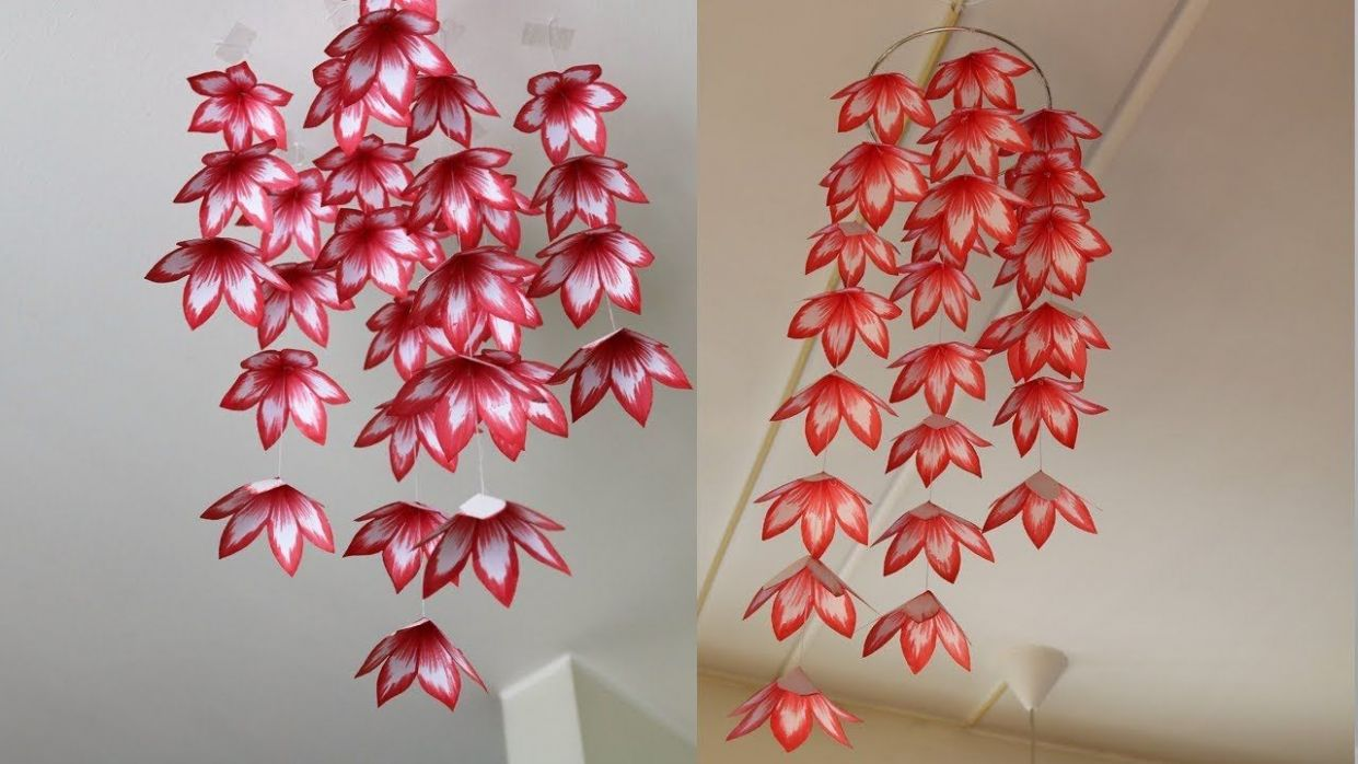 DIY Simple Home Decor - Hanging Flowers 12 - Handmade Decoration ...