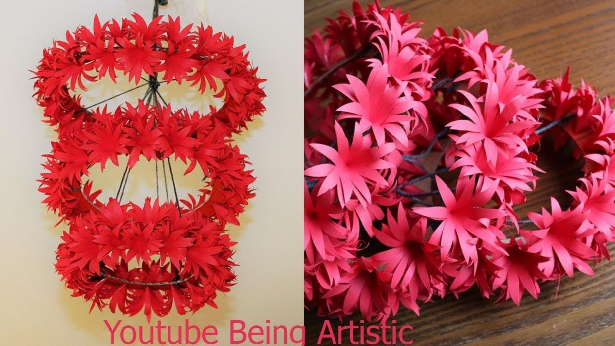 DIY - Simple Home Decor - Hanging Flowers - Paper Craft - Home ...