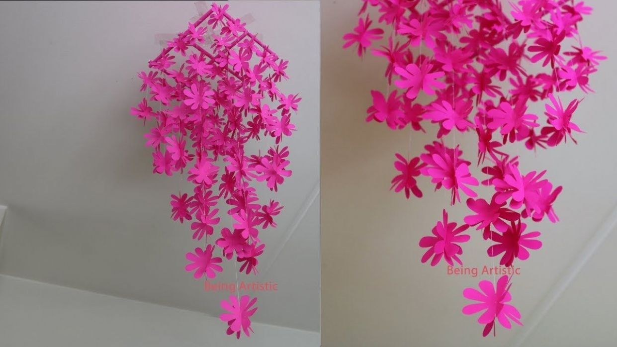 DIY - Simple Home Decor - Hanging Flowers - Paper Craft. House ...