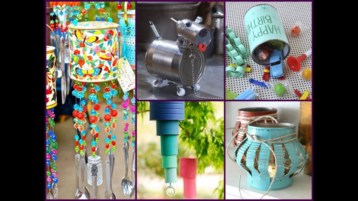 DIY Tin Can Crafts Ideas - Recycled Home Decor - diy home decor recycled
