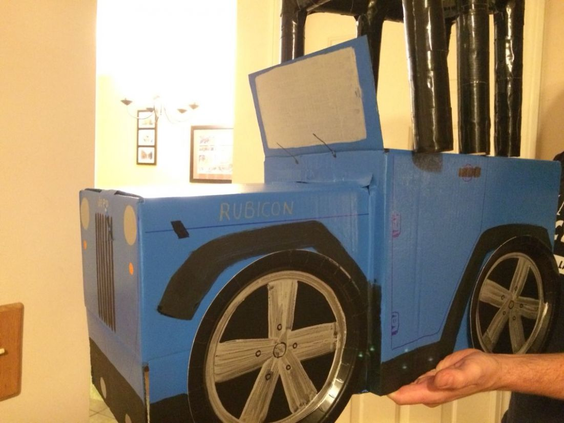 DIY toddler Jeep Wrangler Halloween costume (With images ..