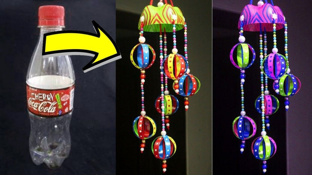 DIY Wind Chime Using Plastic Bottle - Easy Best Out of Waste Wind ..