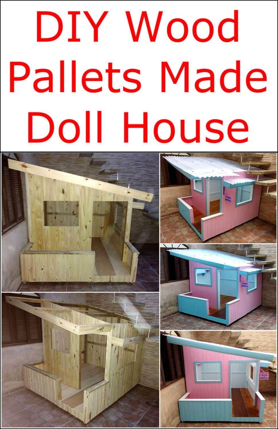 DIY Wood Pallets Made Doll House | Pallet Ideas