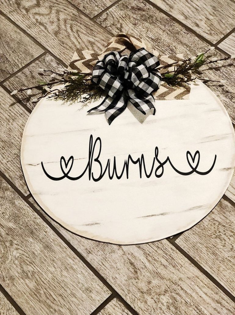 Door Hanger| Family Name| Front porch decor
