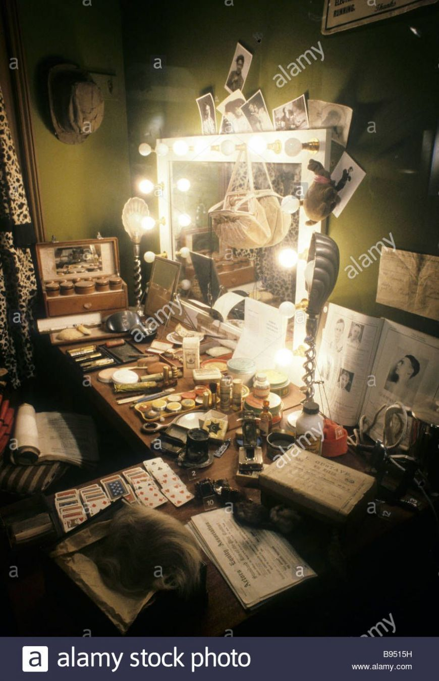 Download this stock image: Victorian Theatre Dressing Room Theatre ..