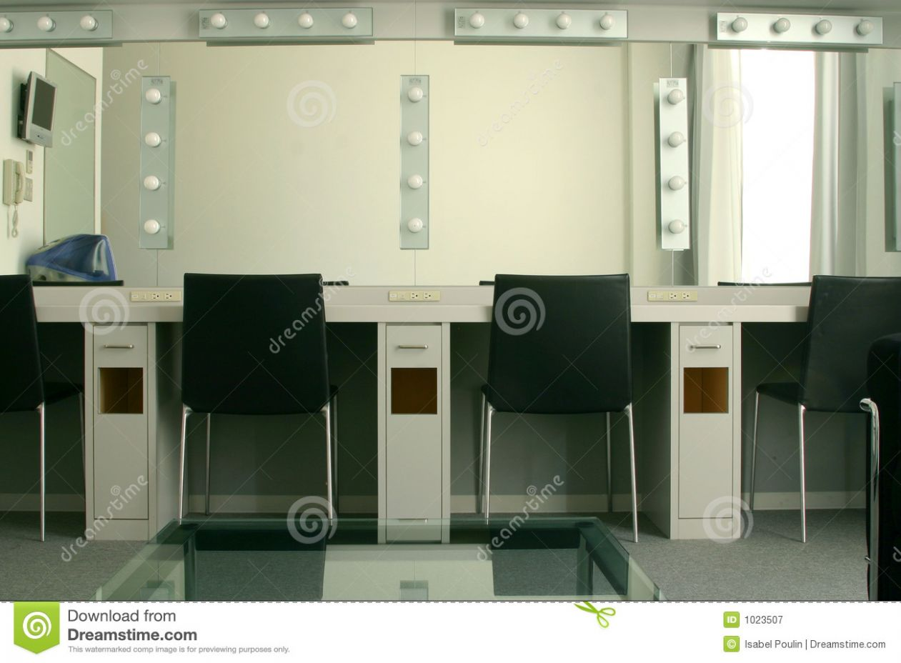 Dressing Room in a Theater stock image