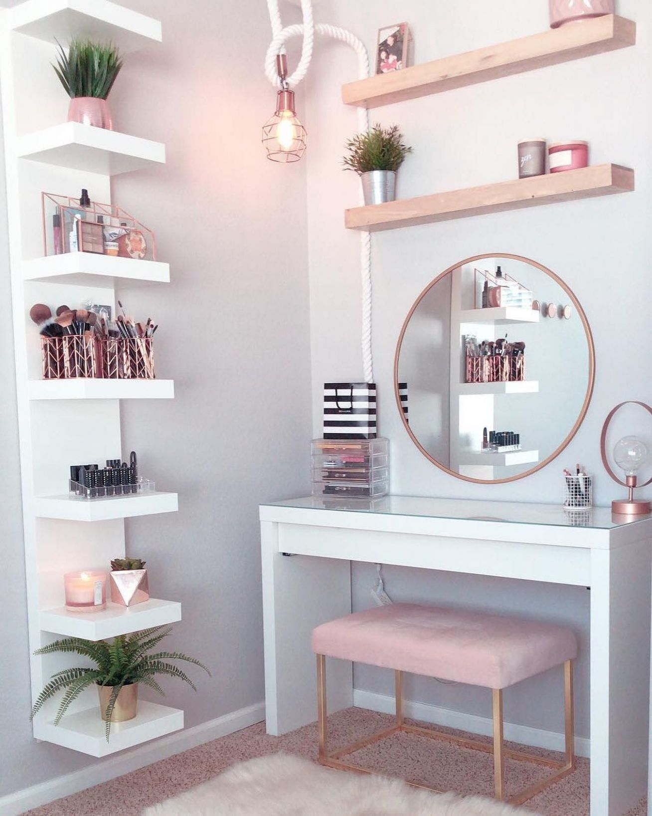 Dressing table ideas: How to organise your dressing table - makeup room organiser