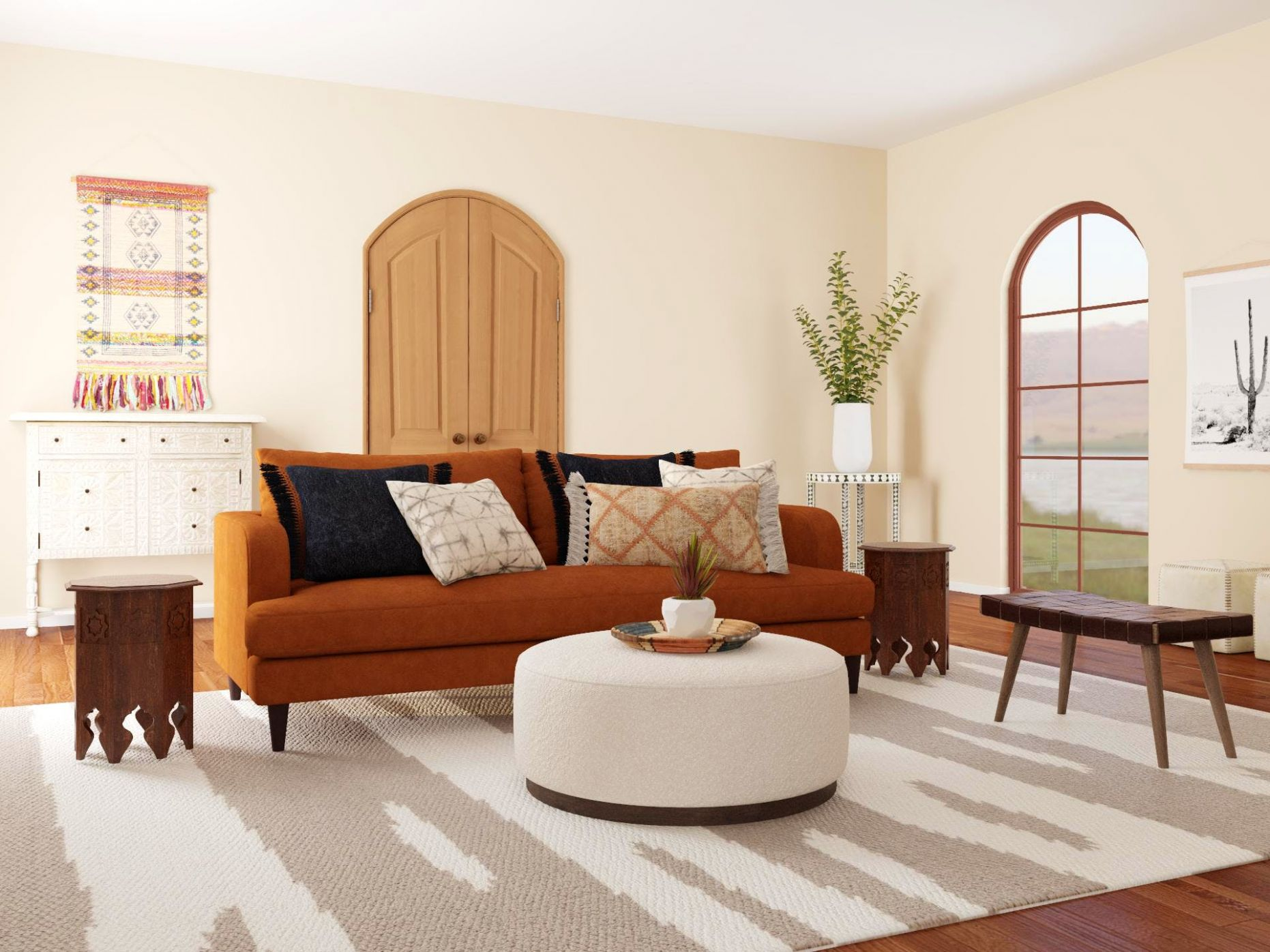 Earth Tone Color Scheme Design Ideas and Styles from Modsy Designers - living room ideas earth tones