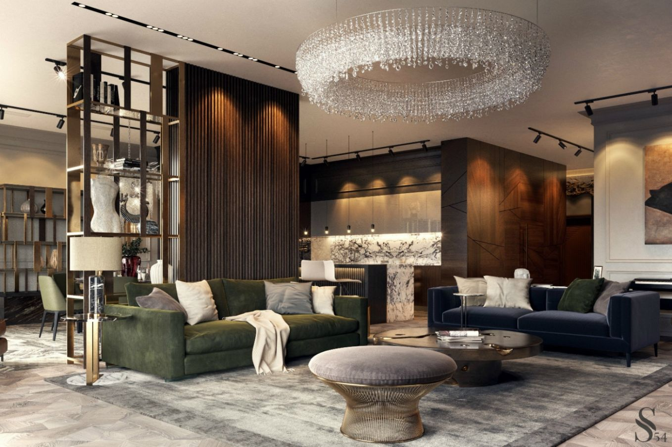 Earth Tones Set The Mood In This Luxury Moscow Apartment - living room ideas earth tones