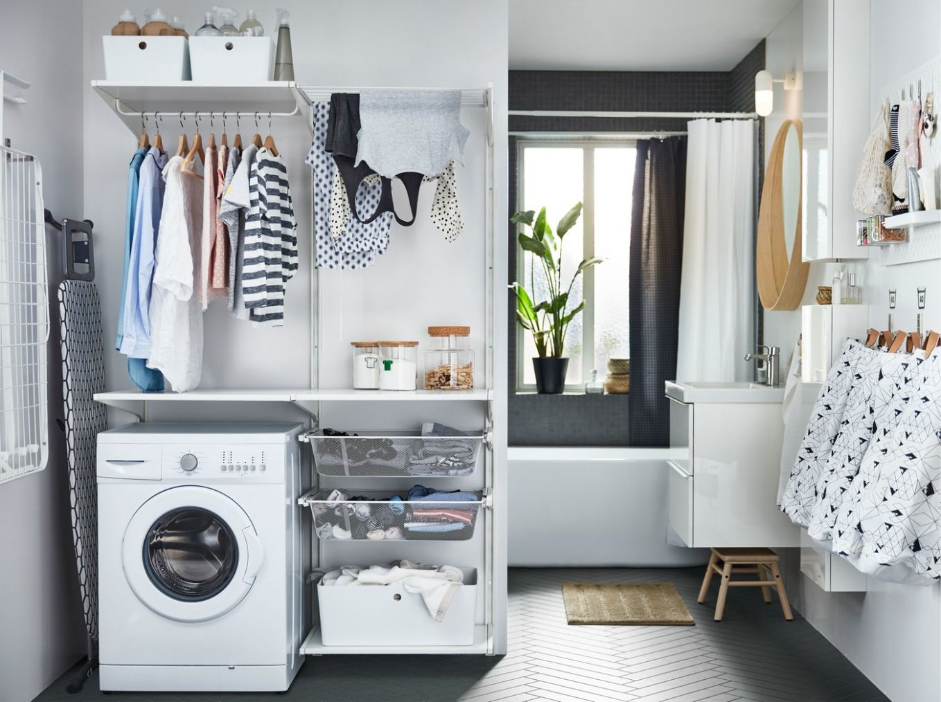 Easy and organised laundry routines - IKEA - laundry room ideas ikea