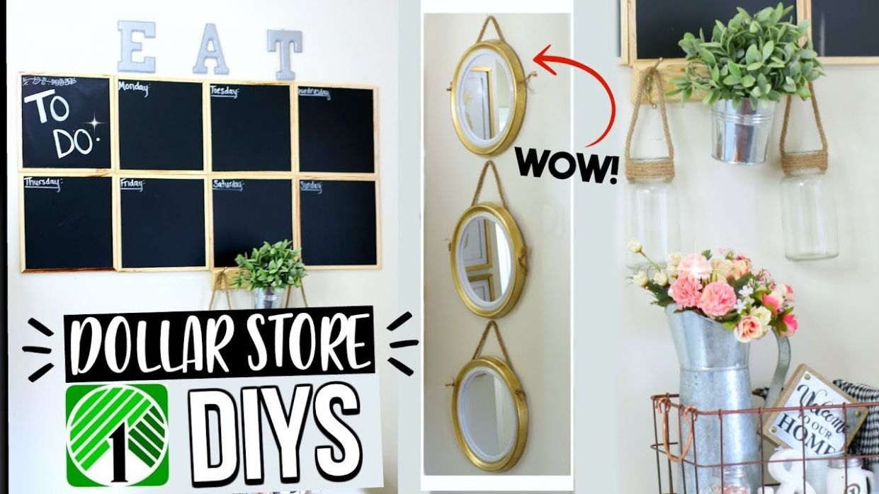 Easy DIY DOLLAR STORE HOME DECOR! SENSATIONAL FINDS - diy home decor dollar store