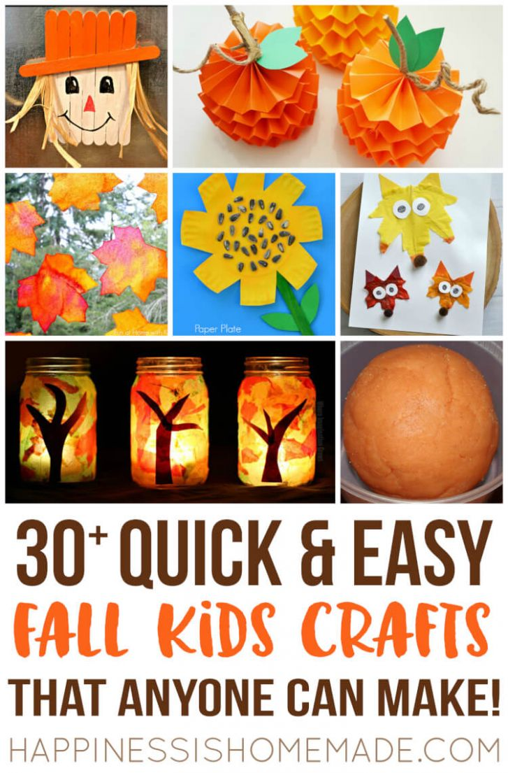 Easy Fall Kids Crafts That Anyone Can Make! - Happiness is Homemade