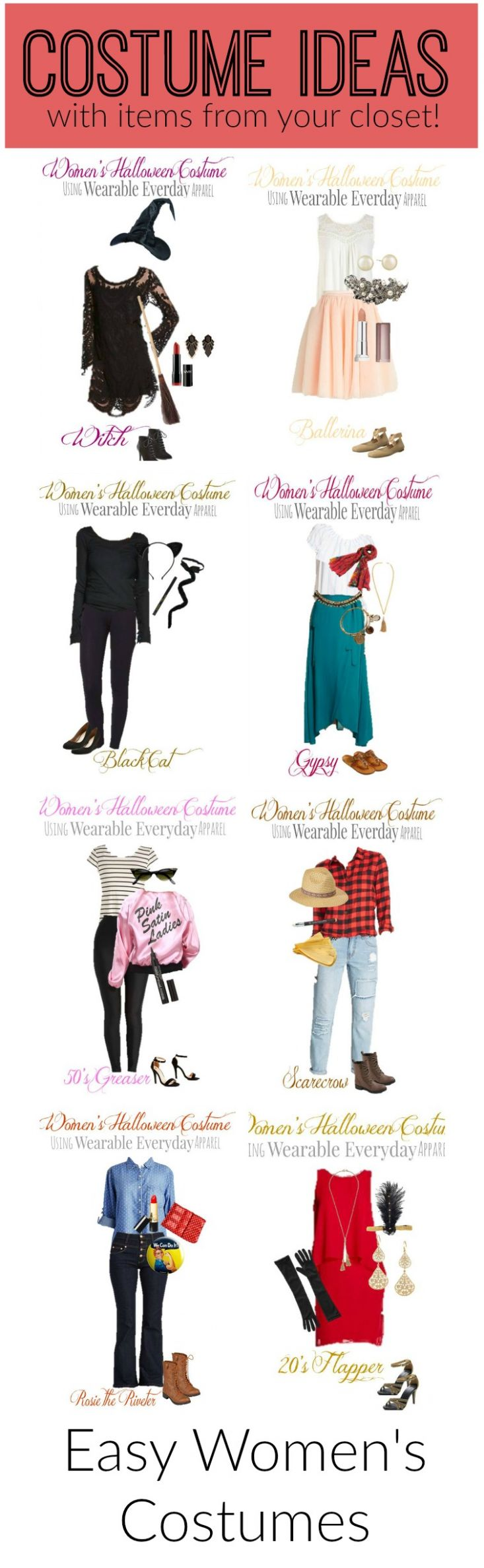 Easy Halloween Costumes for Women (With images) | Easy halloween ...