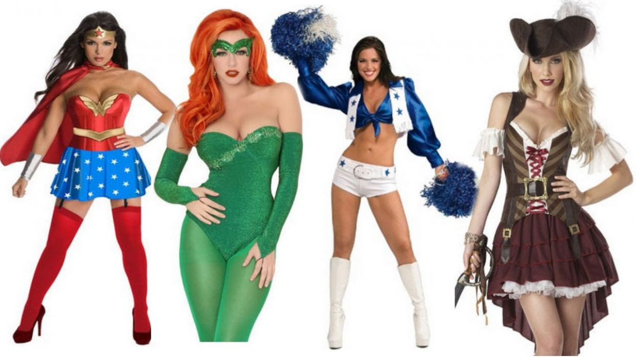 Easy Sexy Adult Halloween Costume Ideas For Women: Wonder Woman, Poison  Ivy, Pirate, Cheerleader - halloween ideas adults