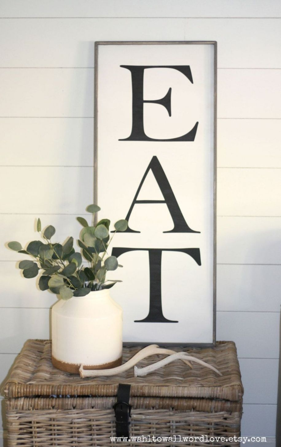 eat sign, large EAT sign, kitchen wall decor, kitchen eat sign ...