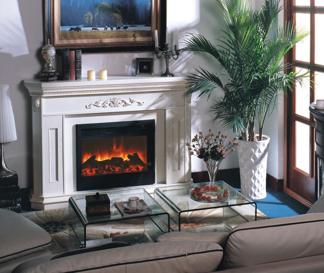 electric fireplace for small living room ideas pictures 10 - Small ..