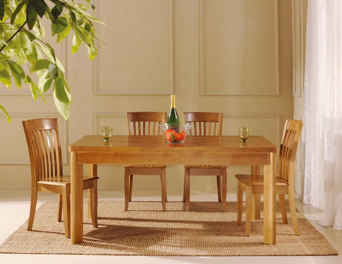 elegant oak dining room chairs | Dreamehome - dining room ideas oak table