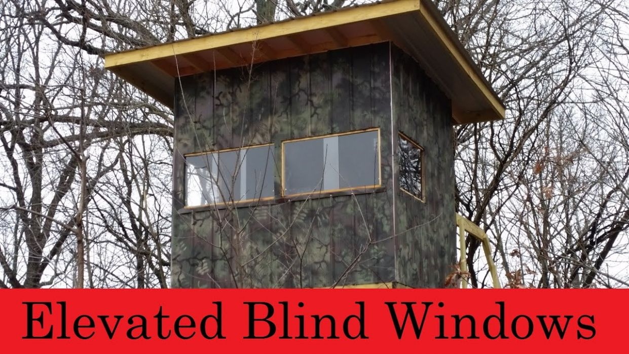 Elevated Hunting Blind Windows are finished.