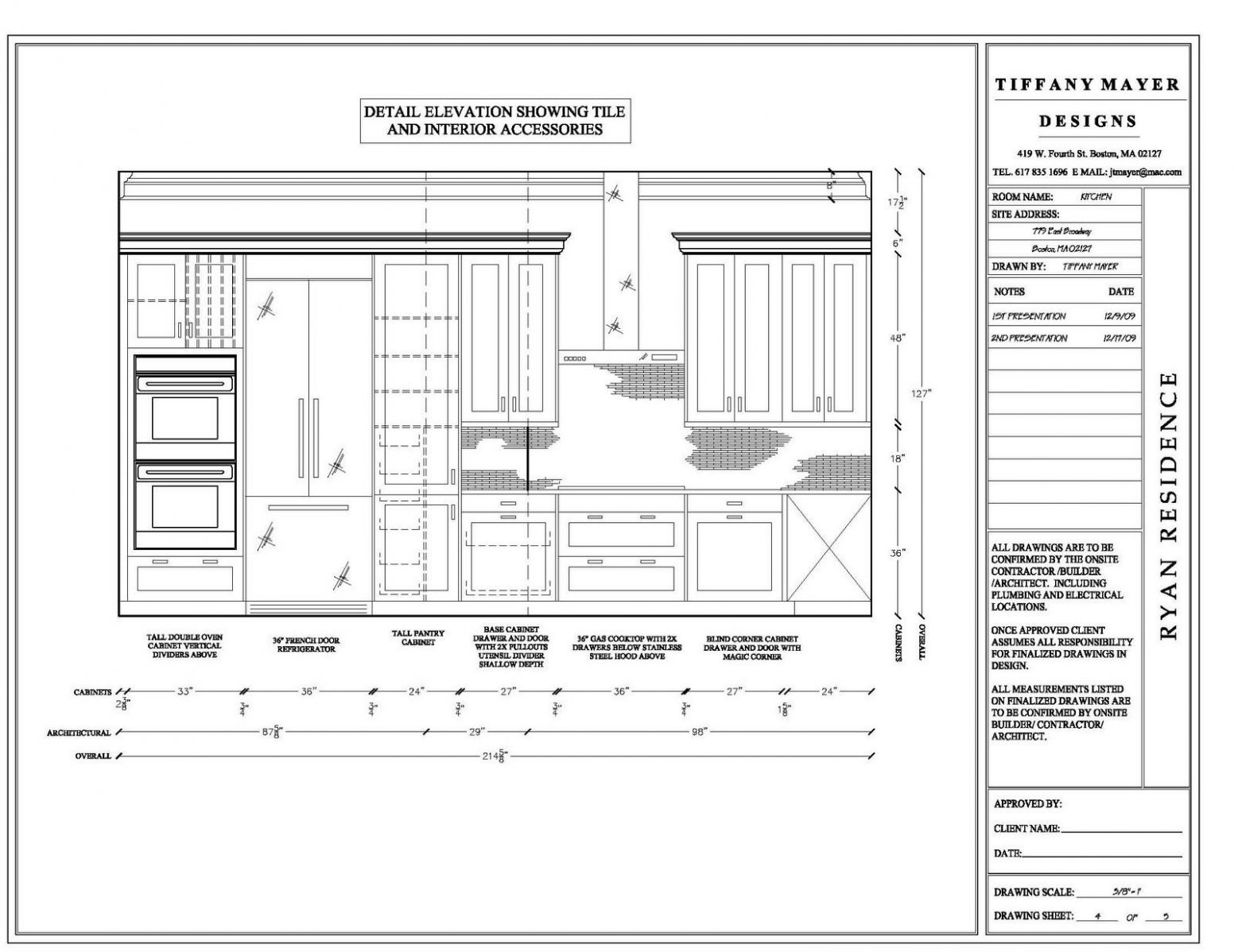 elevation drawings cabinet detail drawing size interior design ...