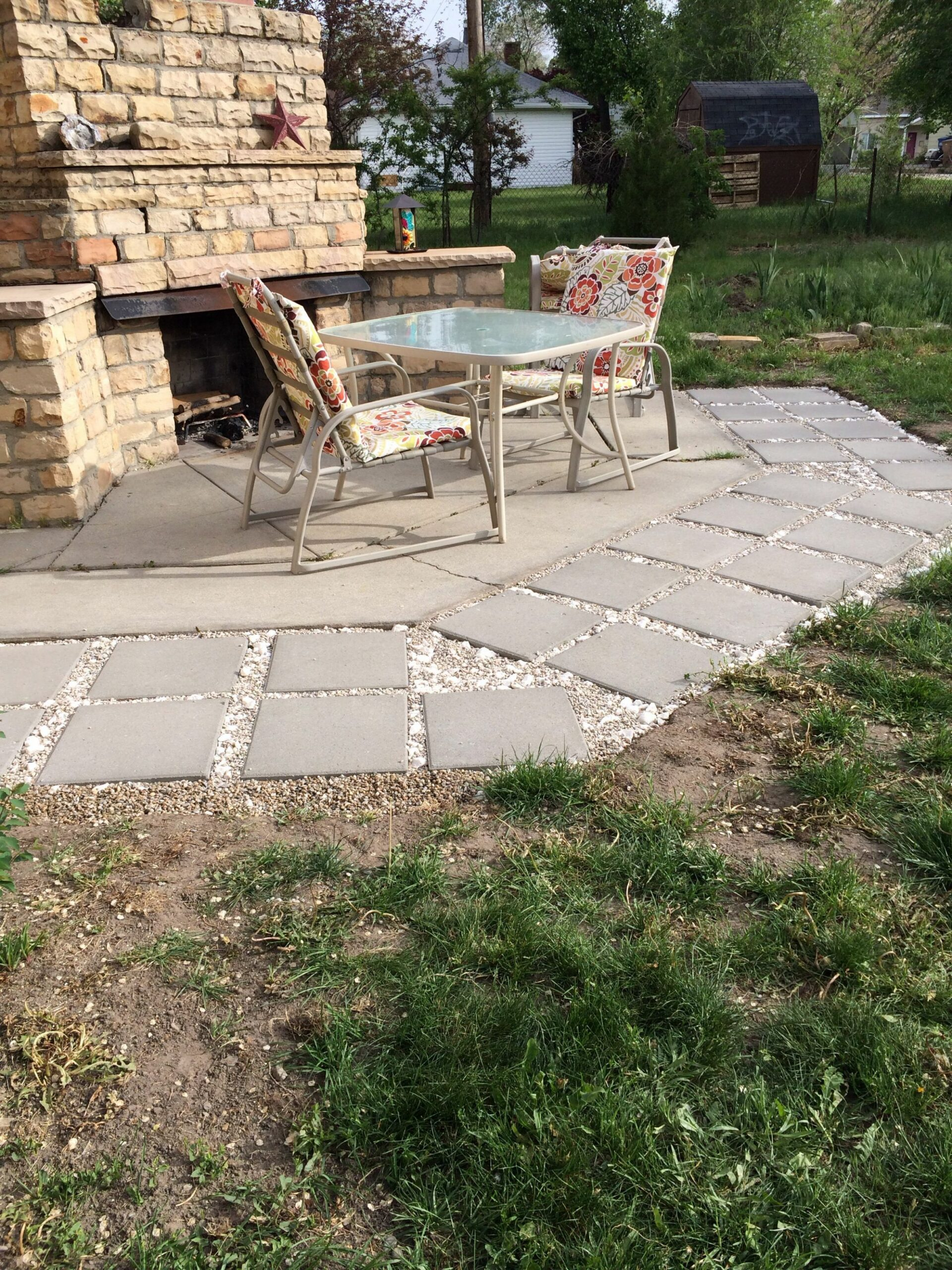 Extend ur patio without using concrete - super easy! All u need ..