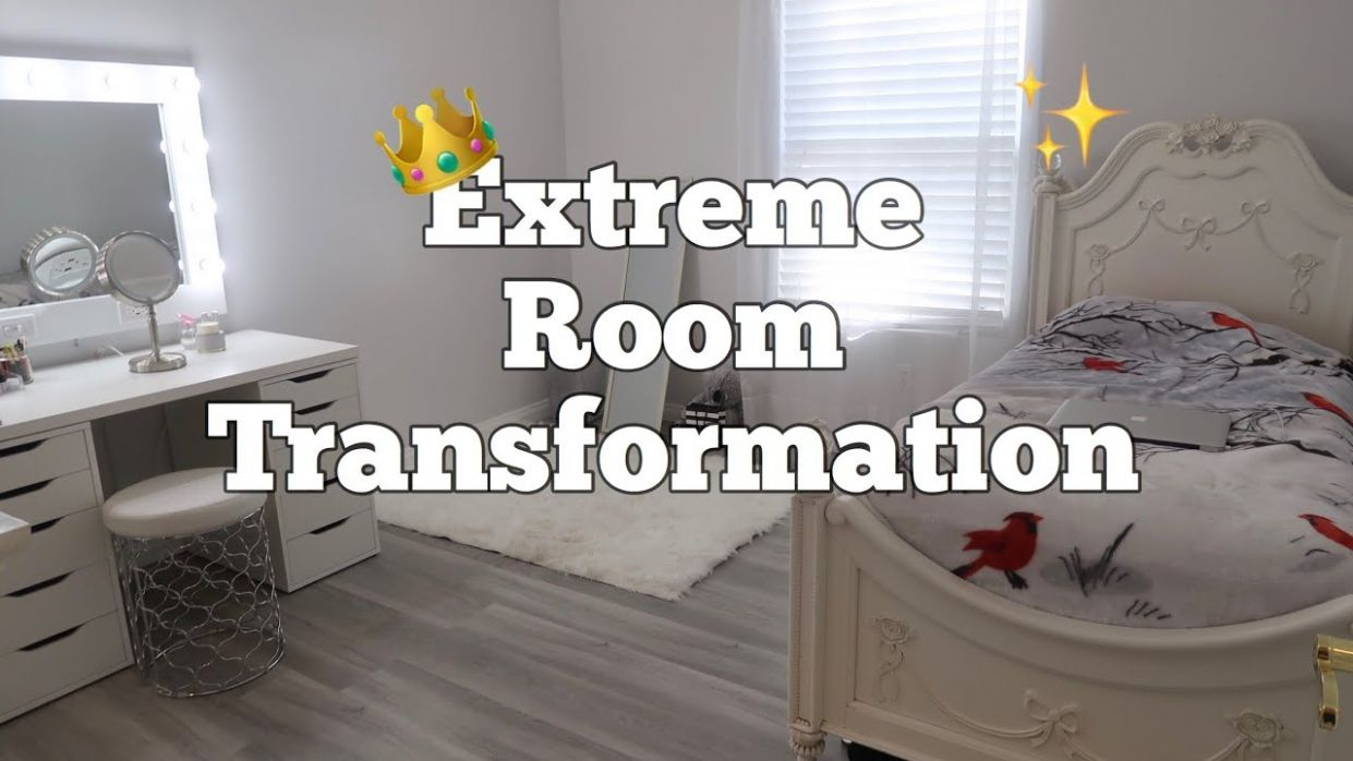 Extreme Room Transformation on a budget + Makeup Vanity Installation