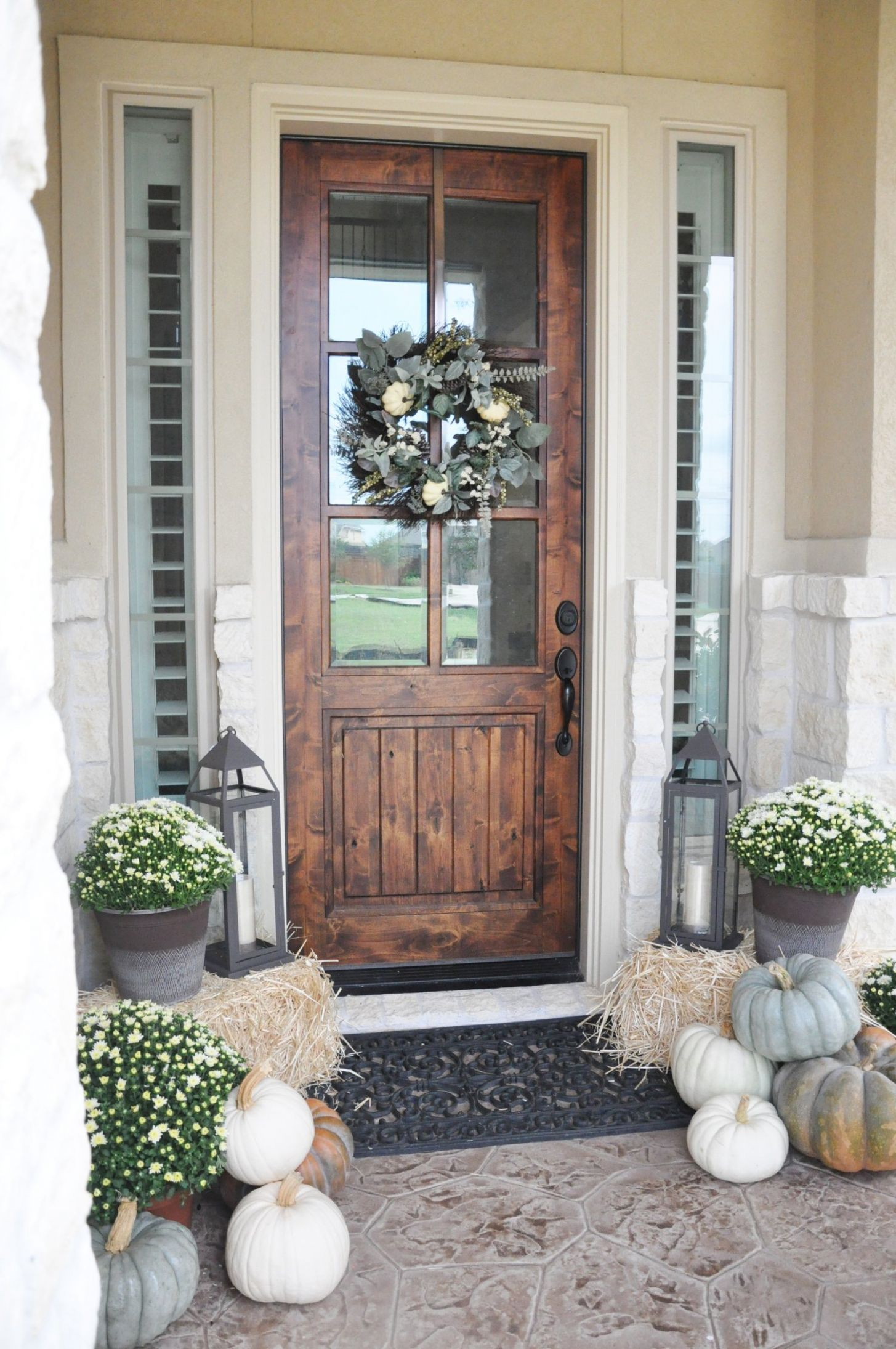 Fall Porch Decor Ideas Anyone Can Pull Off This Year - front porch door ideas