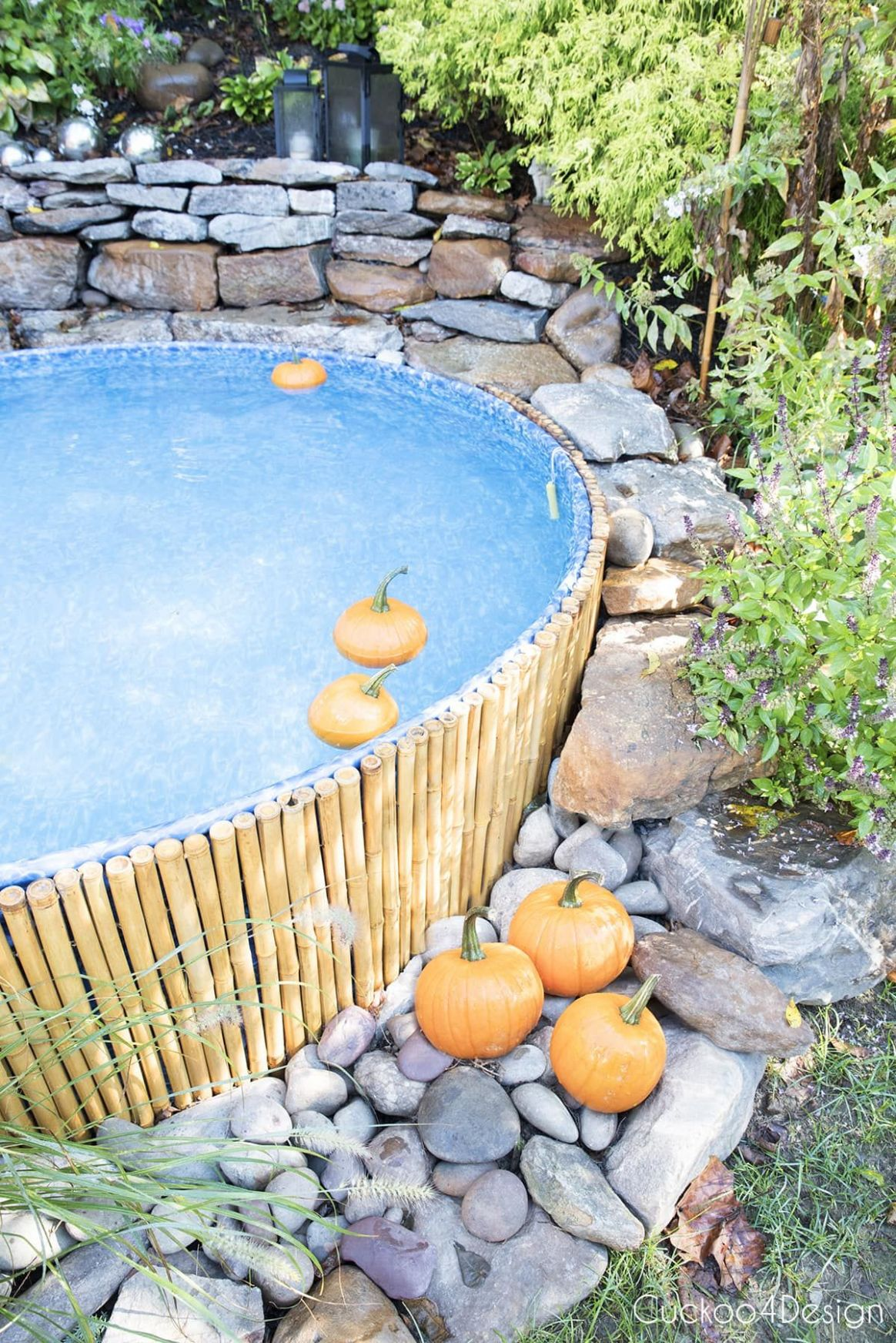 Fall Stock Tank Pool Update and Floating Pumpkins | Stock tank ..