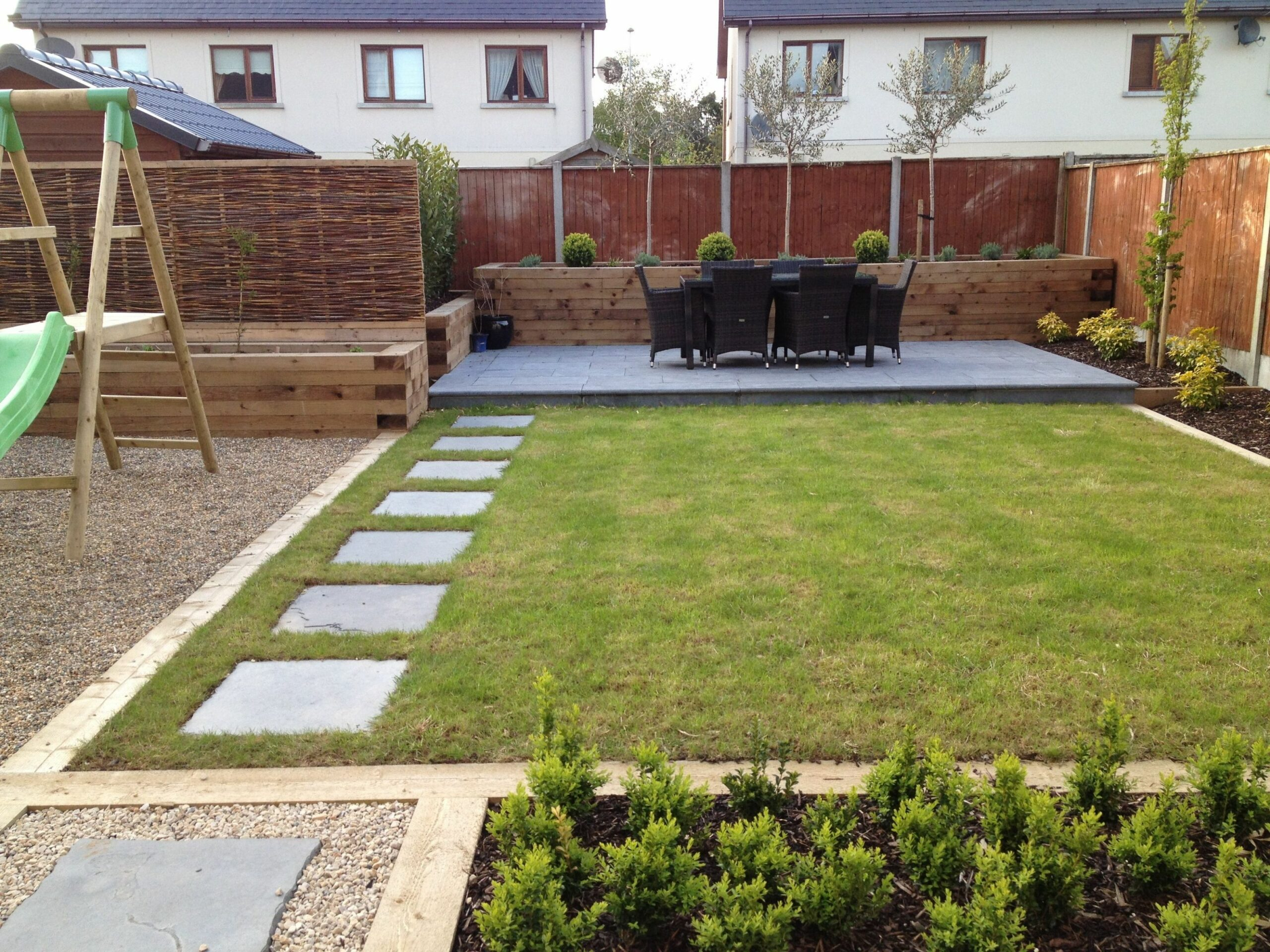 Family garden and landscaping. Low maintenance #family #lawn ..