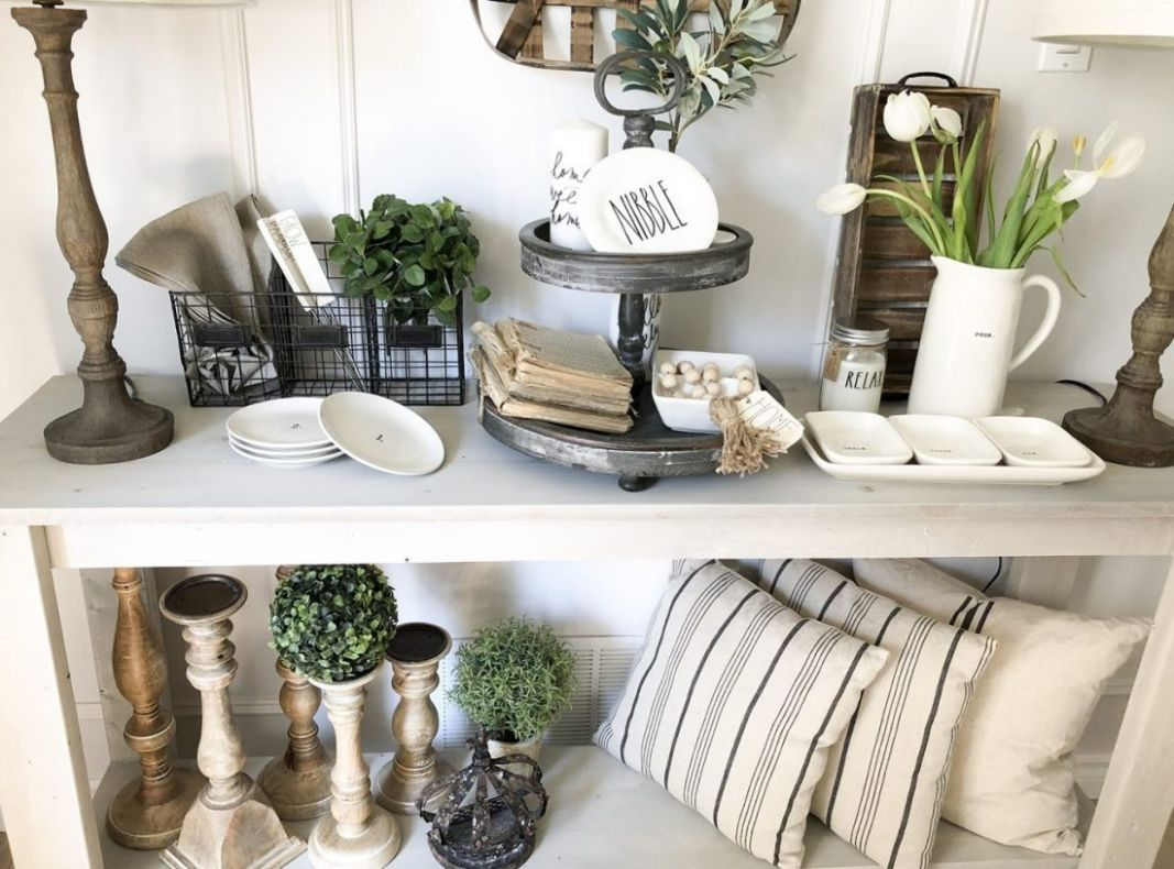 Farmhouse Dining Room Console Table Decor Ideas Summer Vignettes ..