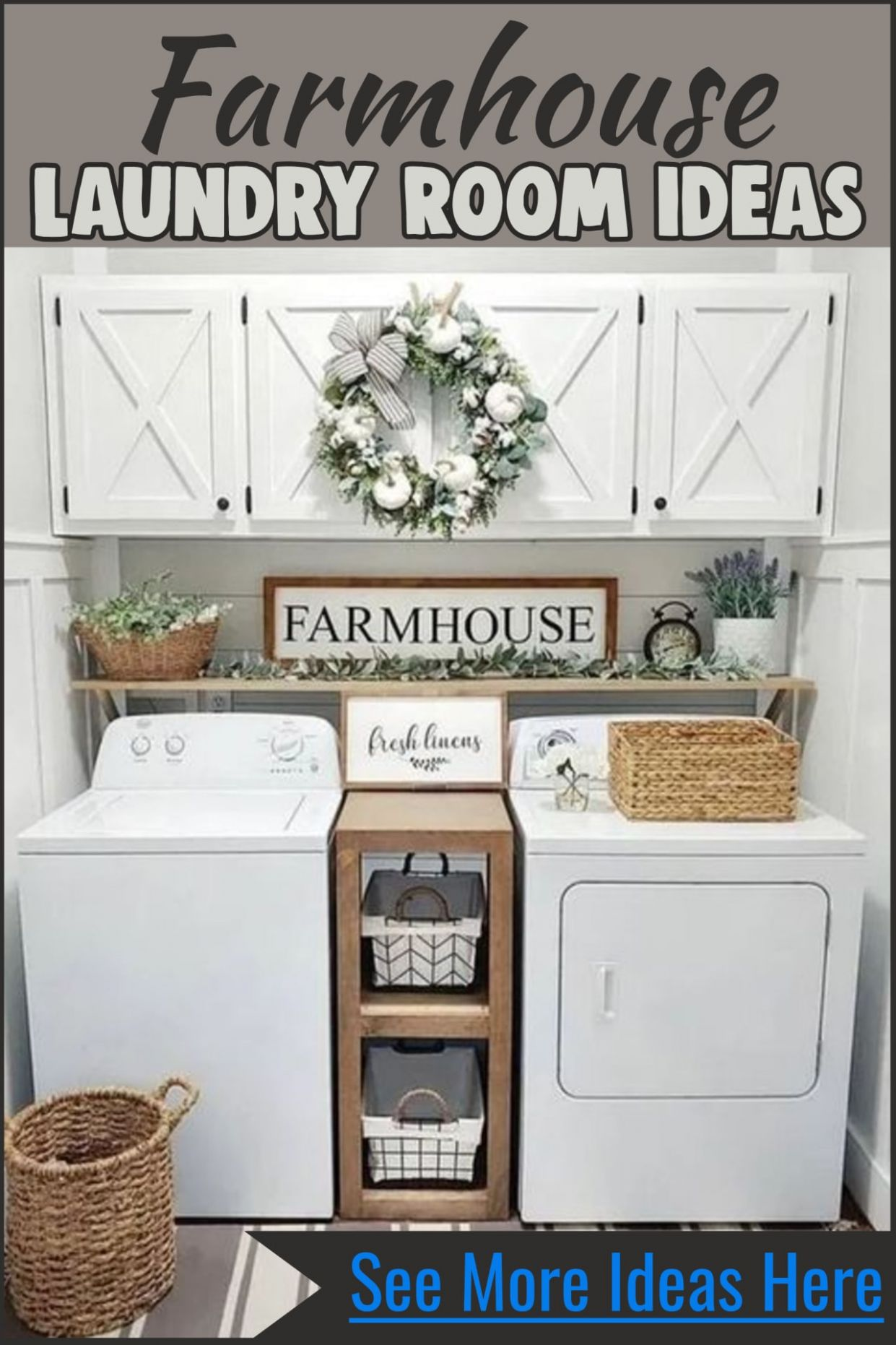 Farmhouse Style Small Laundry Room Ideas To Remodel Your Tiny ..
