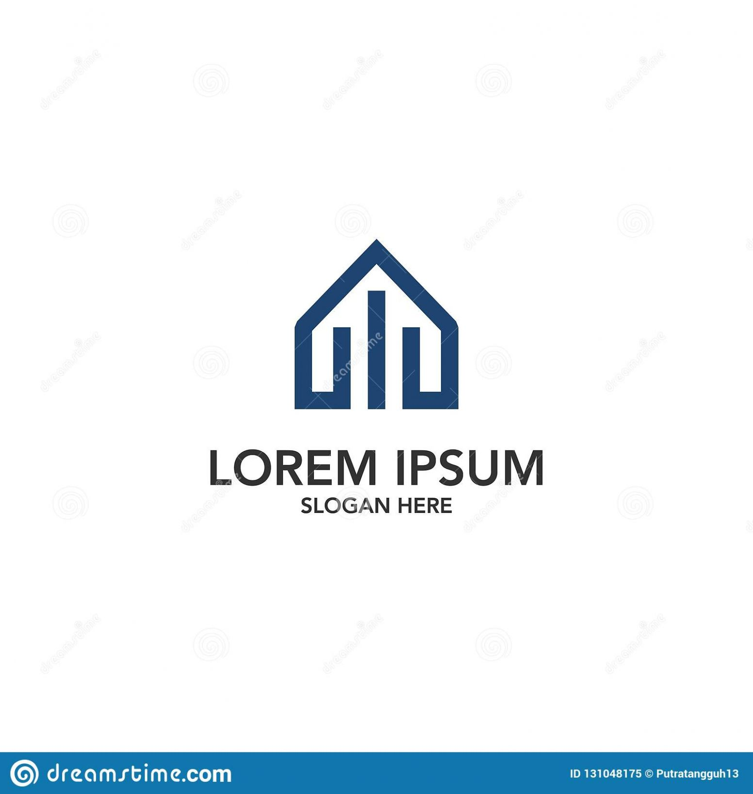 Financial House Logo Design Stock Illustration - Illustration of ..
