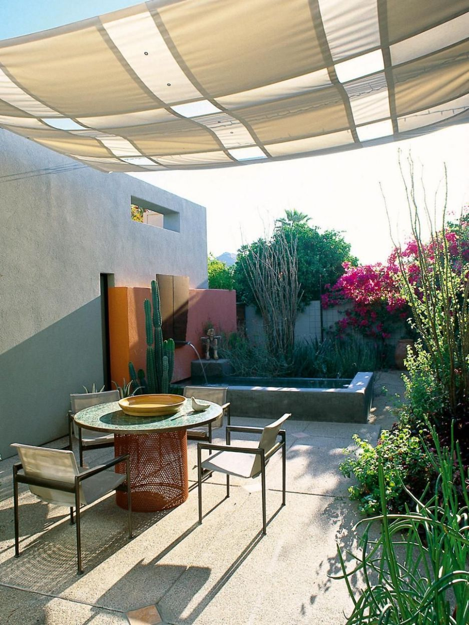 Find some simple ways -- like awnings, canopies, umbrellas ...