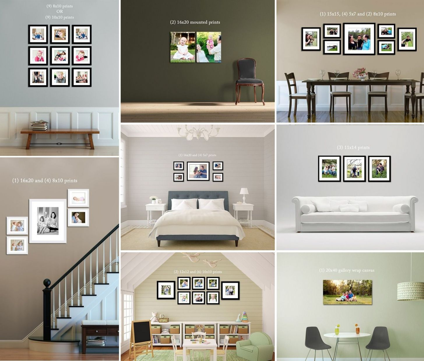frames on wall ideas | prints-canvas-frames-on-wall-example ...