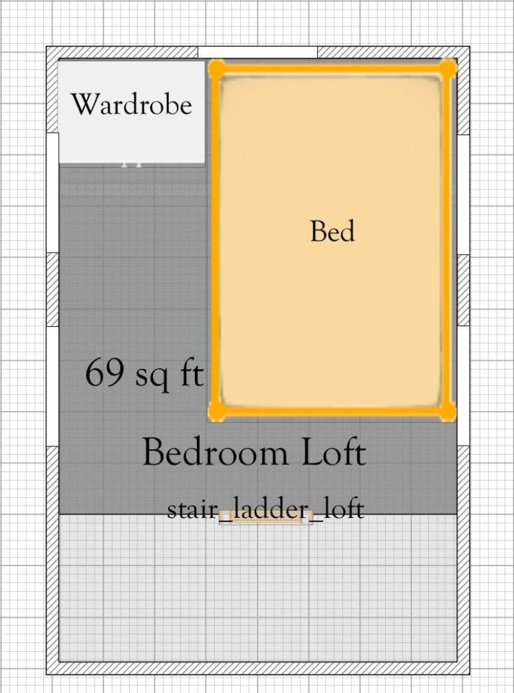 Free 12′ x 12′ Tiny House Plan With Loft | Tiny houses plans with ...