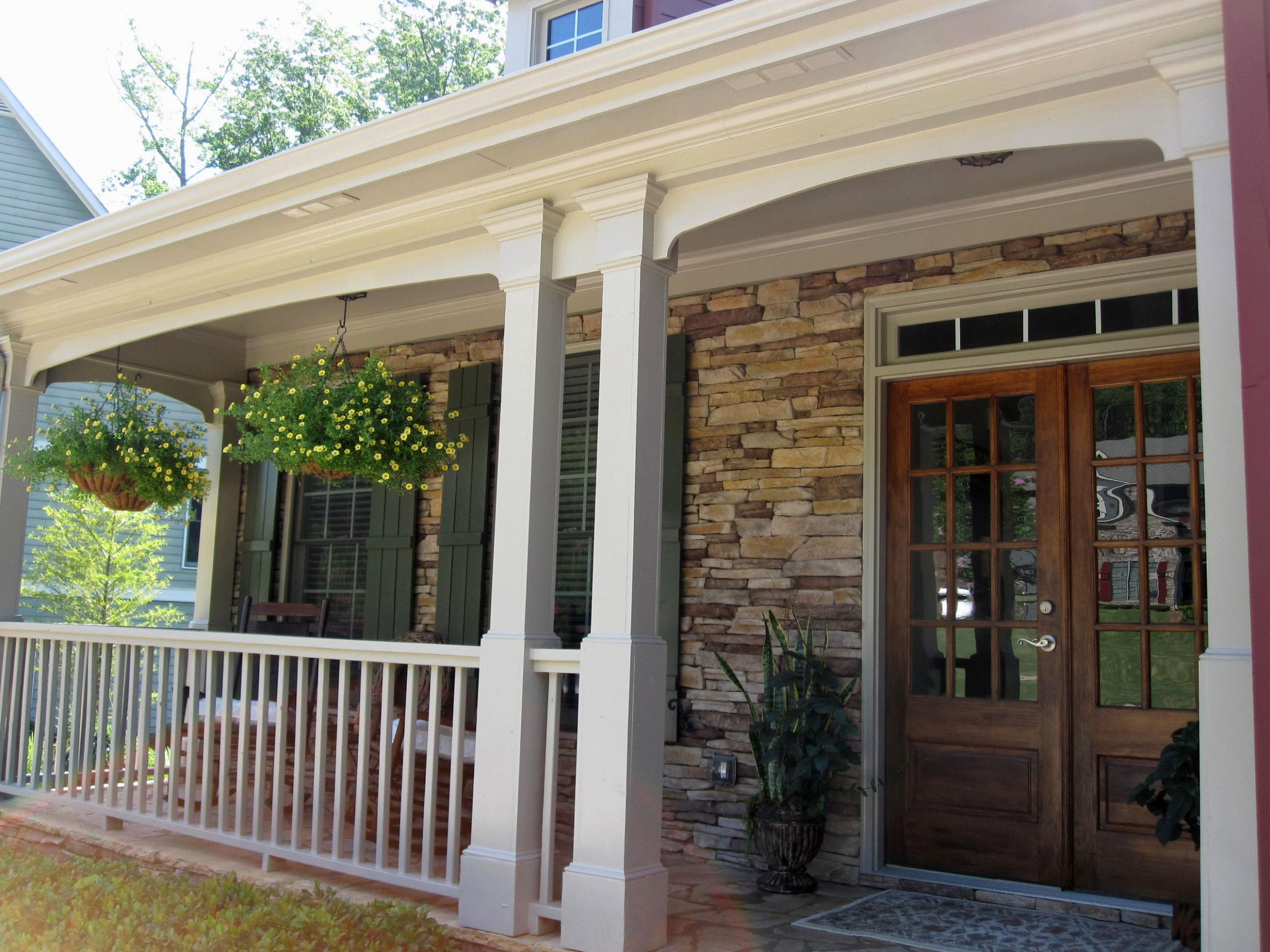 Front Door Porch Ideas Traditional Decorating Rustic Home Elements ...