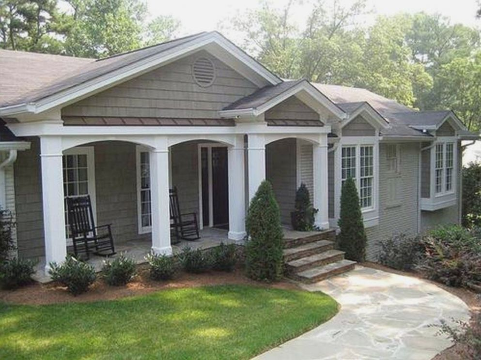 Front Porch Additions For Ranch House Before And After Simple Home ...