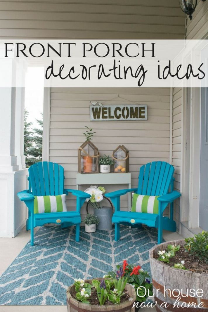 Front porch decorating ideas with the perfect Adirondack chairs ...