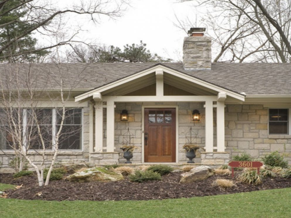 Front Porch Designs Ranch Style House Latest Decks Brick Fall Door ..
