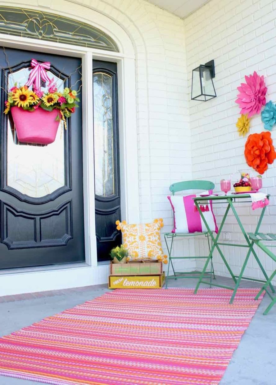 Front Porch Summer Decor (With images) | Summer wall decor, Diy ..
