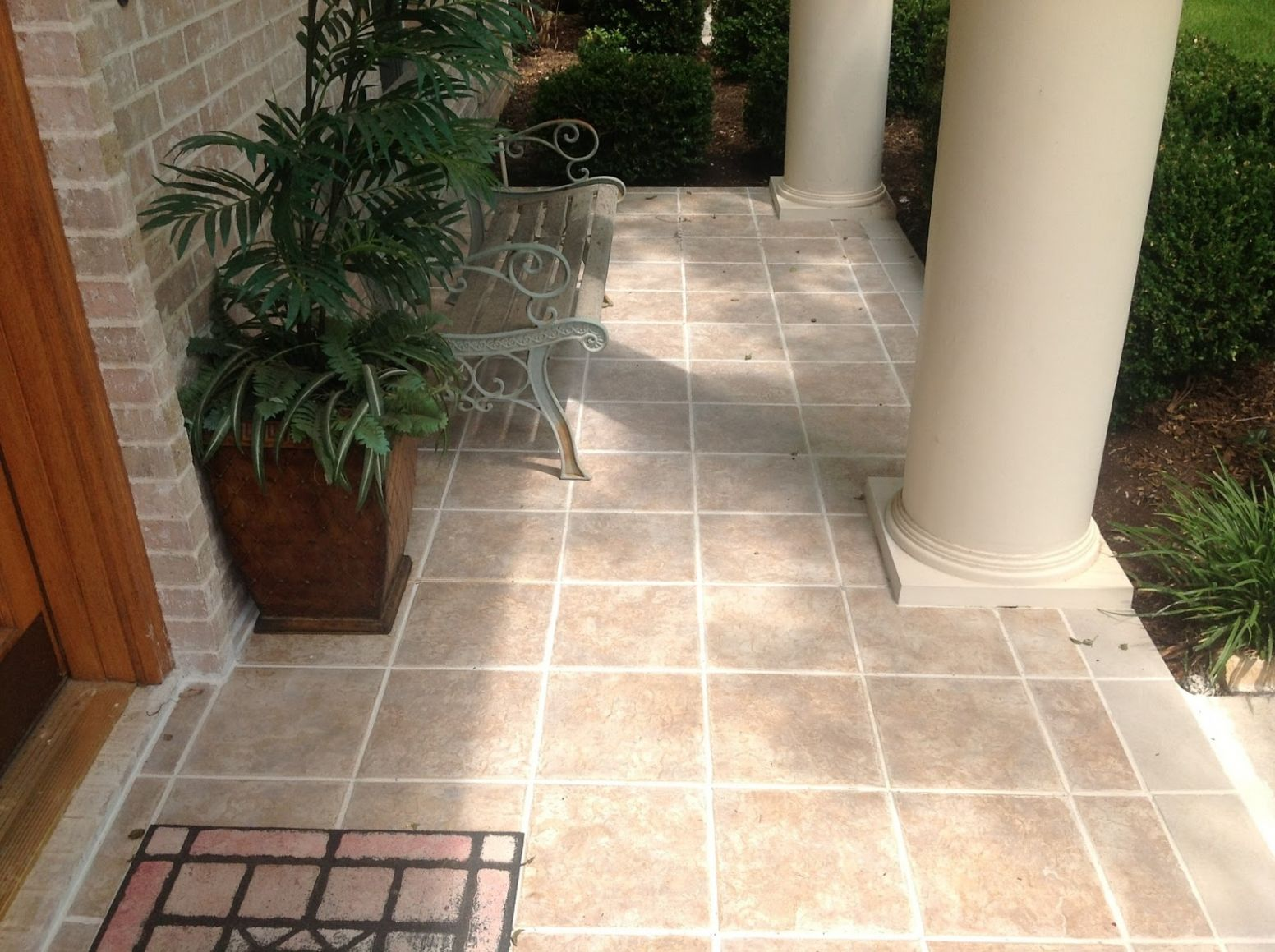 Front Porch Tile Epoxy — Oscarsplace Furniture Ideas : Front Porch ...