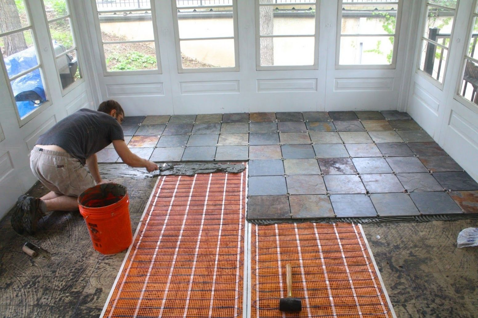 Front Porch Tile Flooring Ideas Cool Screened Porch Flooring Ideas ...