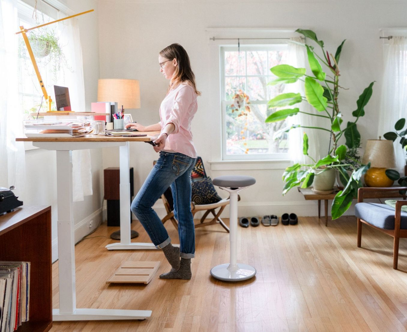 Fully - Standing desks, chairs, and things to keep you moving - home office ideas standing desk